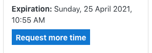 shows Request more time option