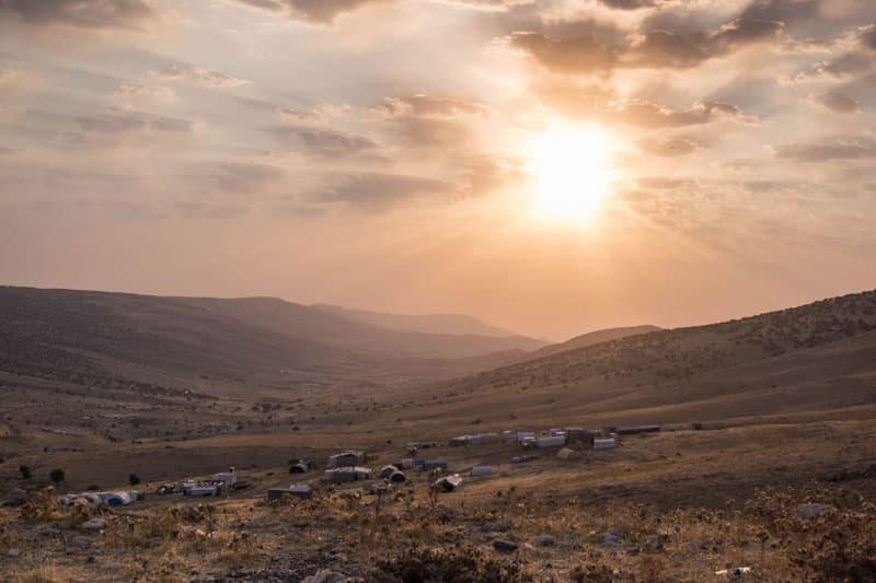 A sunrise in Iraq