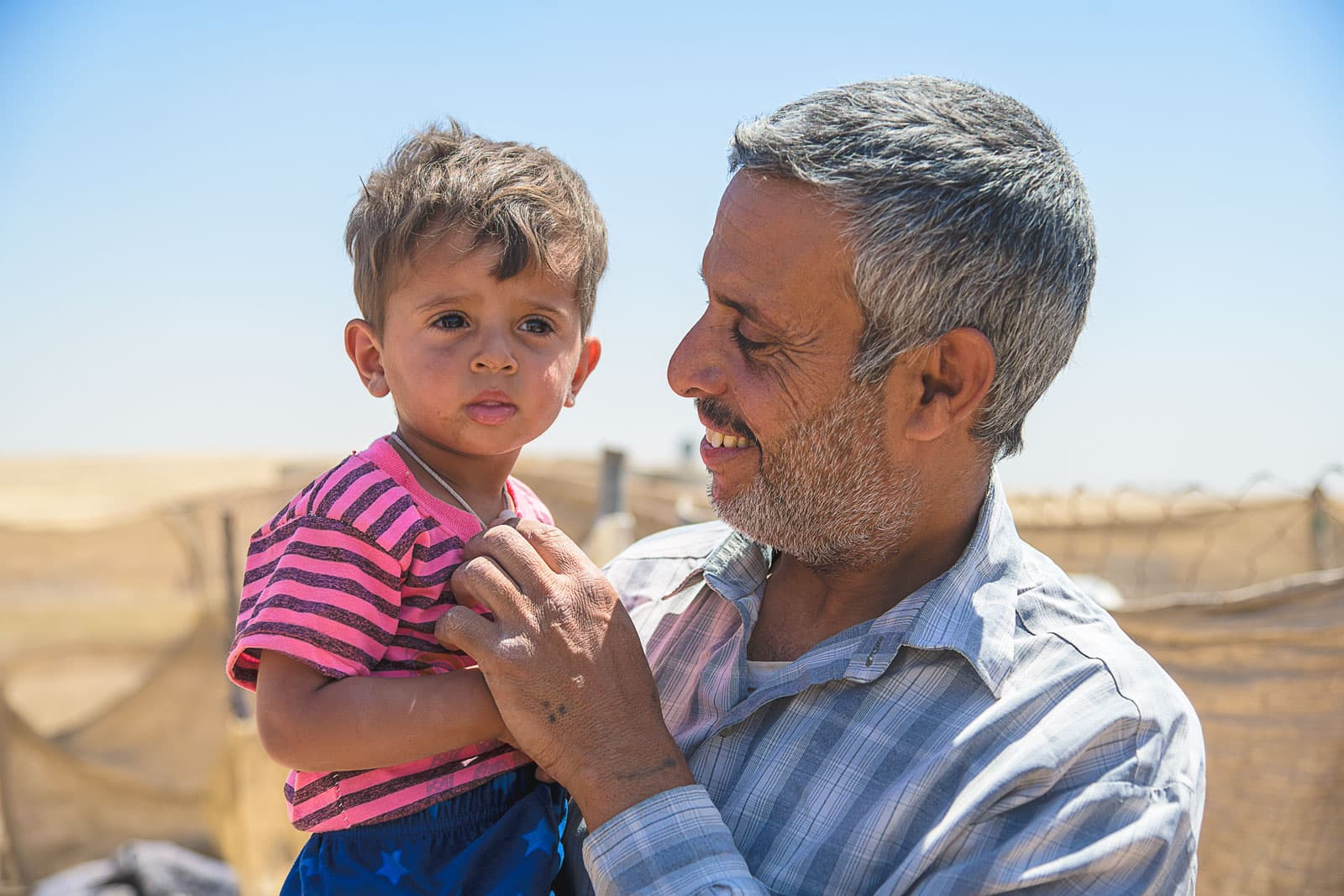 Iraqi father and son