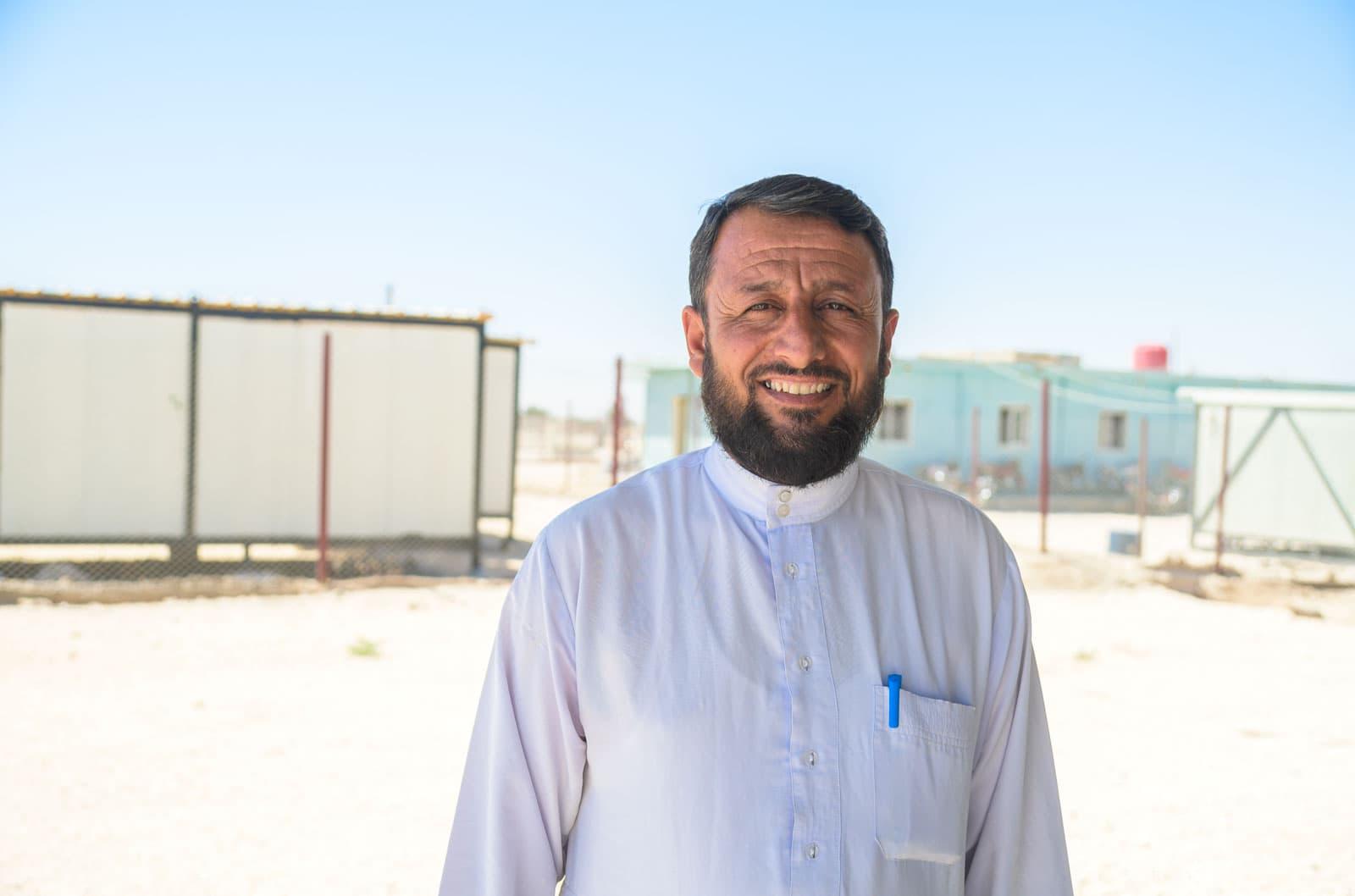 A Syrian man outside the Samaritan's Purse clinic