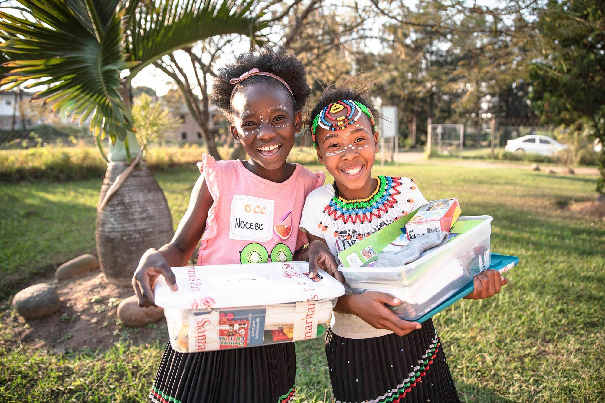 two Operation Christmas Child recipients