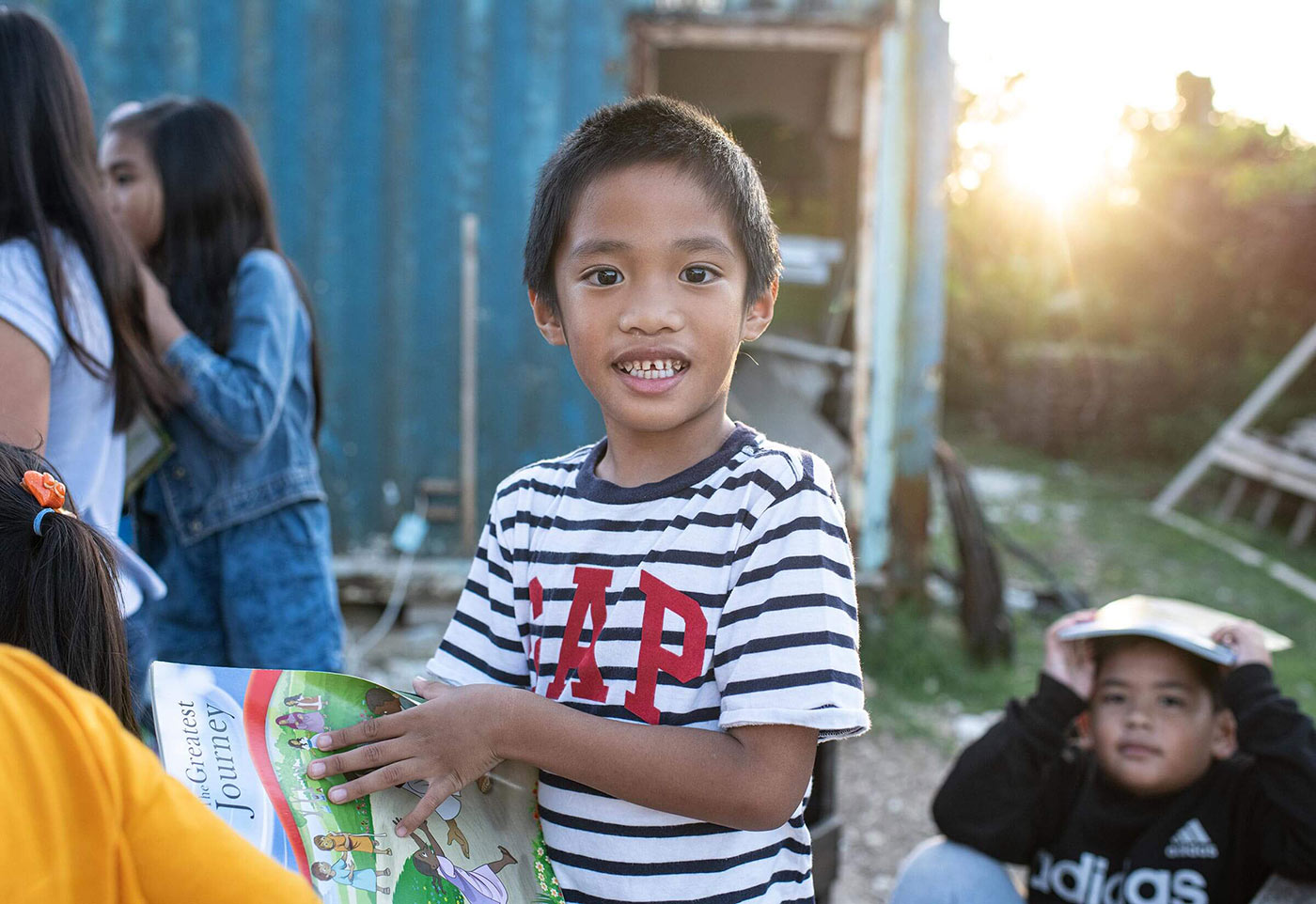 a boy in Saipan learning about Jesus
