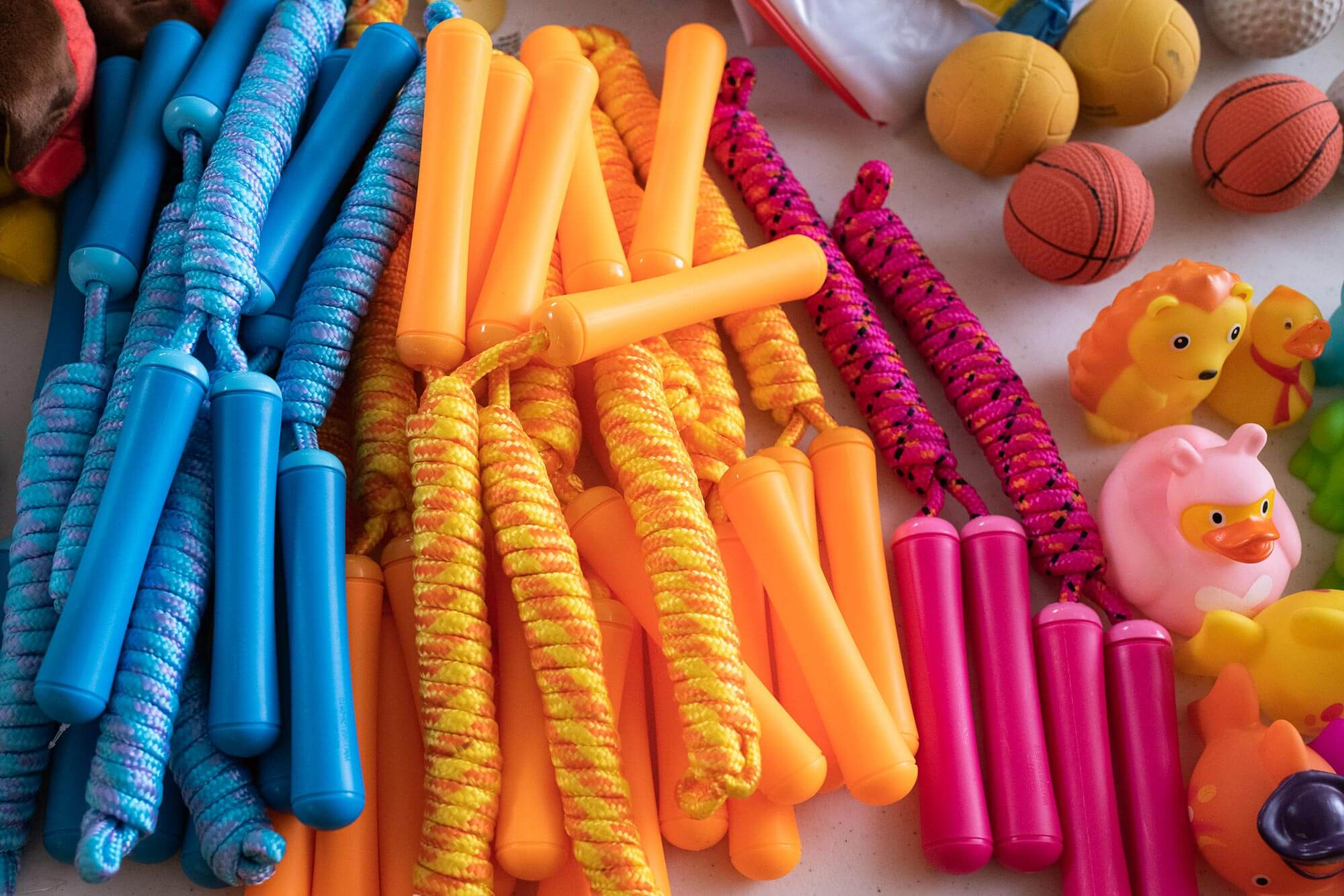 colorful jump ropes