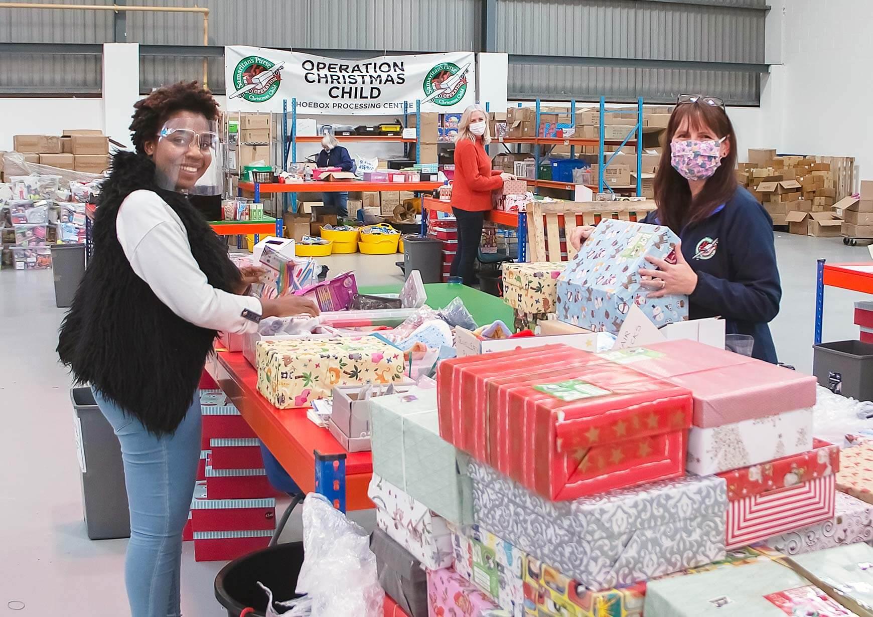 shoebox volunteers